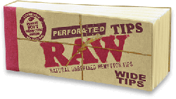 RAW Wide Tips Hemp/Cotton (50 Pack)