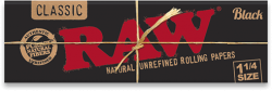 RAW Black 1¼ Rolling Papers (24 Pack)