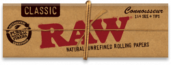 RAW Classic 1¼ Connoisseur Rolling Papers with Tips (24 Pack)