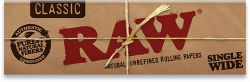 RAW Classic Single Width Rolling Papers (50 Pack)