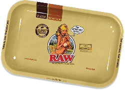 RAW Classic Rolling Tray - Girl