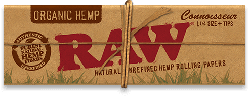 RAW Organic Hemp Connoisseur 1¼ Rolling Papers with Tips (24 Pack)