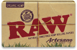 RAW Organic Hemp Artesano 1¼ Rolling Papers with Tips and Tray (15 Pack)